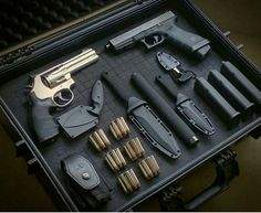 Glock, Wheelgun, ammo,and knives what else do you need? Just which ones do I carry concealed maybe? I like this kind of problem.