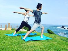 Find solace in the sunshine with an early morning #yoga session. #WellnessWednesday by fspuntamita