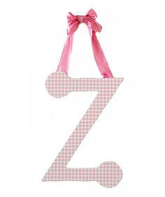 Look at this #zulilyfind! Pink Gingham Letter #zulilyfinds