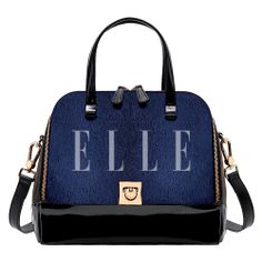 Leather and patent leather doctor bag, Furla