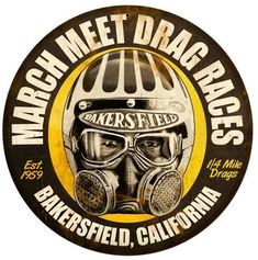 March Meet Round Metal Sign 14 x 14 Inches