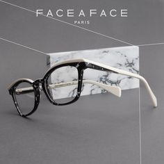 """FINCA  Inspired by the """"créateur"""" design of the 50s . Designed as iconic vintage shapes, with sculpted eyebrows in boost volume and Colors  __________ #FACEAFACE_paris  __________  #marbleeffect #designer #paris #handmade #instaglasses  #fashion #accessories #glasses #design #eyewear #faceaface  #montures #lunettes  #opticalframes #acetateframes #FINCA #madeinfrance #handmade"""