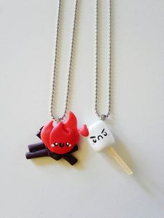 Campfire Friendship Necklaces by kikums on Etsy, $10.00