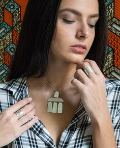 The Modern Tribe Collection - Hian Jewellery - minimal handmade jewelry, silver necklace, rings
