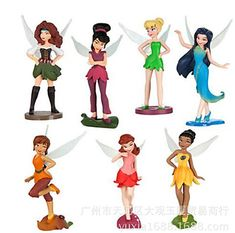 Fairy Figure Tinkerbell Doll Tinker Bell PVC Figures Toy Doll Girls Gift 6 Pcs