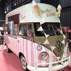 Kombi in Pink, ice cream Van