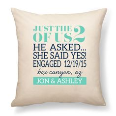 Thirty-One Gifts - Personalized Product - Signature Canvas Pillow - engagement - wedding gift
