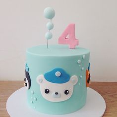 I have a new contender for cutest cake ever!!! ... imagine an ENTIRE #octonauts dessert table!! I am pretty sure that is what I would choose if I won the #hellonaomicomp!