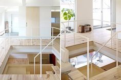 corner-house-11 living room stairs interesting architechture