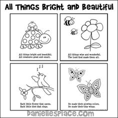 """All Things Bright and Beautiful"" Coloring Book for Children from…"