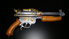 Steampunk revolver for colonial troops officers.