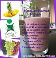 Easy, delicious and healthy Hawaiian Vineyard Vi-Shake recipe from SparkRecipes. See our top-rated recipes for Hawaiian Vineyard Vi-Shake. Protein Shake Recipes, Protein Shakes, Smoothie Recipes, Vitamix Recipes, Healthy Vegan Snacks, Healthy Drinks, Healthy Eating, Clean Eating, Healthy Breakfasts