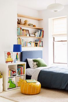 Modern Brooklyn Brownstone Apartment Tour From The colorful modern kids bedroom Brooklyn Brownstone, Boys Bedroom Furniture, Bedroom Ideas, Bedroom Fun, Kids Bedroom Storage, Lego Bedroom, Minecraft Bedroom, Bedroom Pictures, Girls Bedroom