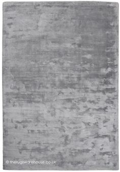 Aurum Silver Rug, a luxuriously soft hand-tufted viscose rug in silver http://www.therugswarehouse.co.uk/clearance/aurum-silver-rug.html #rugs #greyinteriors #interiors