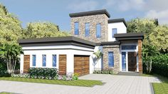Captivating Modern House Plan - 31846DN | 1st Floor Master Suite, CAD Available…