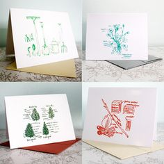 Outdoor Fun Notecards Set Of 4 now featured on Fab.