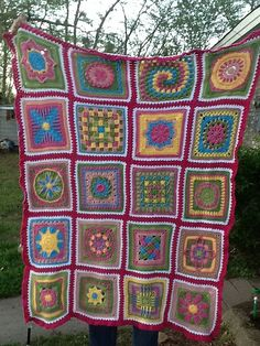 2000's BAWL granny square afghan (no pattern)