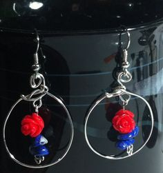 Red Rose and Lapis Lazuli Hoop Earrings say I by Rocks2Gems2Wire, $12.00 Rose Jewelry, Unique Jewelry, Lapis Lazuli, Red Roses, Hoop Earrings, Trending Outfits, Handmade Gifts, Vintage, Etsy