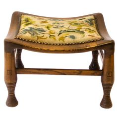 Antique Furniture Antiques Antique Long Oak Stool Low Bench William Morris Style Art And Crafts Covering