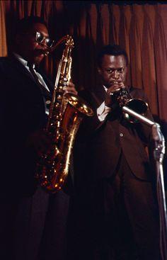 John Coltrane and Miles Davis, 1958