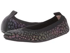 Reflect style and grace in these Yosi Samra Kids flats. ; Flats in a neoprene leather upper. ; Reflective croc design. ; Slip on construction with elastic collar and pull tab at back. ; Synthetic lining. ; Lightly padded footbed. ; Man-made sole. ; Imported. Measurements: ; Weight: 3 oz ; Product measurements were taken using size 2 Little Kid, width M. Please note that measurements may vary by size. ; Weight of footwear is based on a single item, not a pair.