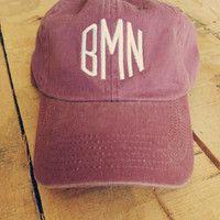 Monogrammed Baseball Cap for Women