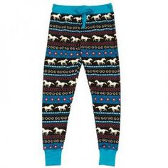 Horse Fair Isle Leggings - Cover your gams with stylish jams! Our new leggings are fun and fashionable, with bold colors, bright patterns, and the snug-fitting comfort you love in a legging! Made from a soft and stretchy Lycra/Cotton blend, the leggings have a thick waistband and drawstring for adjustable comfort. Pair with our coordinating tall tee, for women of every age, this combo is all the rage! XS-XL. $24.49