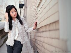 extrapetite.com the quest for fashion that fits  <3 this tweed jacket by PetiteAsianGirl