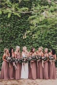 Bridesmaids Dresses | Dessy: Pleated detail at front of empire waist skirt in cappuccino.