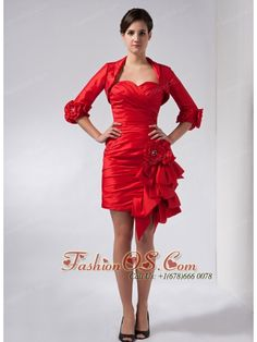 cacf0623143 Buy flowers mini length red column mother of the groom dresses in atwood  from unique mother of the bride dresses collection