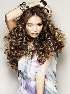 how to curl your hair with paper towels. love doing this!