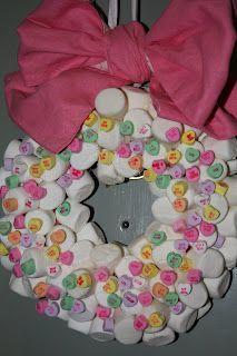 Marshmallow Valentine Wreath!