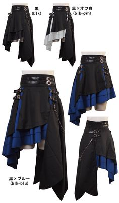 Two skirts in oneSteampunk Project Ideas DIY Steampunk Clothing and Decor Ideas . Anime Outfits, Cool Outfits, Fashion Outfits, Fashion Clothes, Diy Clothes, Stylish Outfits, Pirate Clothes, Pirate Dress, Fashion Ideas