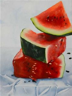 Watermelon by Sarah Sexton (15 years old!). Painting for Scholastic Competion 2013