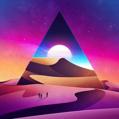 Colorful Geometrical Futuristic Illustrations – Fubiz Media