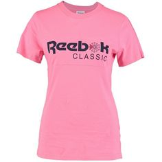 Reebok Classic CLASSIC TEE T-shirt med tryck ❤ liked on Polyvore featuring tops, t-shirts, pink top, reebok top, pink tee, reebok t shirt and reebok