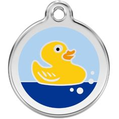 Custom Engraved Stainless Steel and Enamel Dog ID Tag - Rubber Ducky (Large) -- Learn more by visiting the image link. (This is an affiliate link) #IDTags
