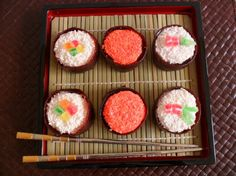 Sushi donuts - complete step-by-step instuctions included in my eBook