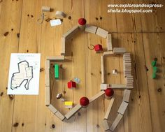 Explore and Express: Model of Jerusalem with wooden blocks