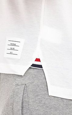 For a perfectly fitted suit, try the Thom Browne department at Barneys! Camisa Polo, Polo Design, Polo T Shirts, Thom Browne, Fashion Branding, Apparel Design, Fashion Details, Shirt Style, Shirt Designs