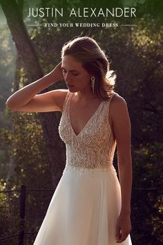 Explore elegant wedding dresses by Justin Alexander. Elegant Wedding Dress, Dream Wedding Dresses, Wedding Gowns, Tulle Wedding, Justin Alexander, Bridesmaid Dresses, Prom Dresses, Wedding Bells, Getting Married