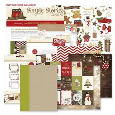 Simple Stories - Cozy Christmas Collection - SNAP Recipe Binder Class Kit at Scrapbook.com - Document all those cherished family recipes in this darling all inclusive kit!