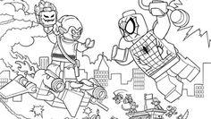 Printable coloring page for LEGO Ninjago Green Ninja VS