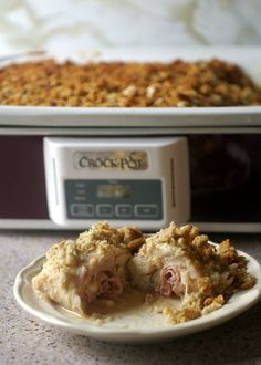 This weeknight standby is filled with salty ham and nutty Swiss cheese, Made in the slow cooker it is elegant as it is easy.