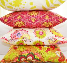 Beautiful pillows by CrazyDaysies  http://www.etsy.com/people/CrazyDaysies