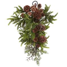 "This amazing Pine & Pine Cone Teardrop Decoration 26"" is an appealing decoration that is recognized by everyone but still looks unusual. When beautiful faux"
