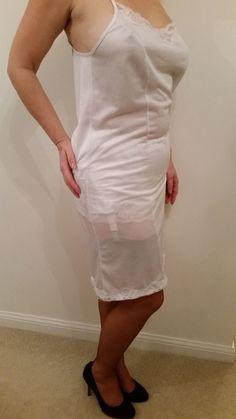 Old Lady Dress, Panty Images, Lingerie Drawer, White Slip, Night Gown, Sexy Women, Cold Shoulder Dress, Feminine, Summer Dresses