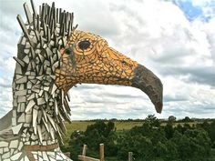 3D mosaic Egyptian vulture by By Anselm Croze