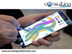 Samsung Note 7. LA MEJOR EMPRESA DE MARKETING DIGITAL. Samsung presentó el nuevo Galaxy Note 7. Con la nueva línea del Samsung Note 7, el teléfono viene con algunas mejoras, entre ellas destaca su pantalla curva en los lados y la tecnología para escanear el iris de los usuarios. Entrará al mercado muy pronto para competir directamente con el nuevo iPhone 7. www.consultingmediamexico.com  #lamejoragenciadigital