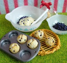 Re-ment : Let's Cooking / My Sweet Recipe #9 Blueberry Muffins by HarapekoDoggyBag, via Flickr